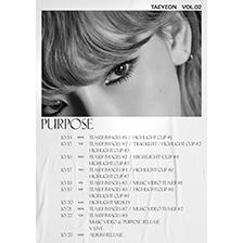 '믿고 듣는 보컬퀸' 태연, 정규 2집 'Purpose' 스케줄 포스터 공개 화제!
