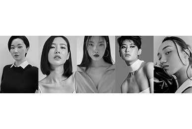 JANG YOON JU X YOO GIAN X KIM MIN JUNG X CHA SOO MIN X HEO JI WON,'MISS GEE COLLECTION X SIGNATURE KITCHEN SUITE' 2021 F/W offline fashion show runway sortie on the 15th