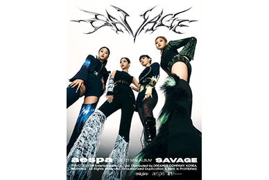 aespa 'Savage', the first K-pop girl group's first album, ranked 20th on the US Billboard 200!